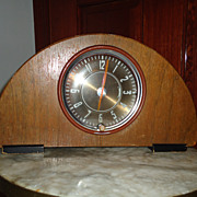 SALE Super Art Deco Wooden New Haven Mantle Clock