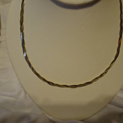"SALE Sterling Silver Braided Chain 18"" Necklace"