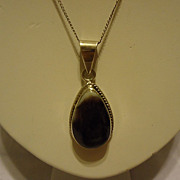 "SALE Gorgeous Large Sterling Silver Purple Agate Pendant on 18"" Chain"