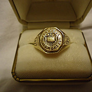 SALE Super 10k Yellow Gold Art Deco Dunmore, PA High School 1931 Class Ring