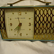 SALE Unique 1950s Phinney Walker Handbag/Purse Music Alarm Clock