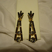 Beautiful Pair of Art Deco Rhinestone Made in Austria Earrings