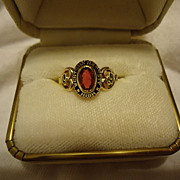 Super Vintage 10k Yellow Gold Ruby Size 5 Class Ring