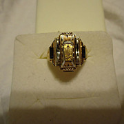 Beautiful 10k Yellow Gold 1961 Waymart High School, PA Class Ring