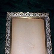 SOLD Vintage SHABBY Gold Metal Fancy FILIGREE Mid Century Photo Picture FRAME