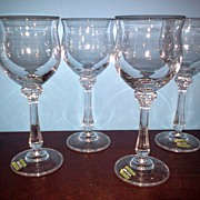 Mikasa Crystal Stemware Ardmore Set of 4 water Goblets Germany