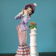 Lefton Musical Porcelain Lady Figurine