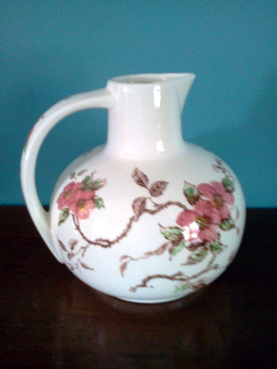 Nasco Springtime Water Pitcher with Pink Dogwood Blossoms