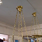 Art Deco 5 Light Chandelier Early 1900's