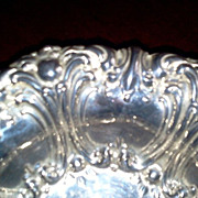 Small Ornate Silver Plated Nut Bowl