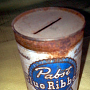 Vintage Advertising Papst Blue Ribbon Beer Tin Bank