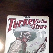 1920 Sheet Music Turkey in the Straw