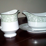 Vintage Sango Creamer and Gravy Boat Buckingham Pattern