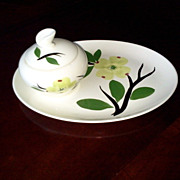 Joni Dixie Dogwood Platter and Sugar Bowl by Stetson China