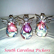 2 Crystal Angel Christmas  Ornaments by Ross