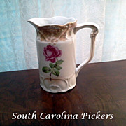 Vintage ca 1900 Porcelain German Pitcher # 147 with Roses