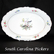Winterling China Platter Made in Germany Bird Pattern