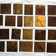 Vintage Brass Printer's Letters 26 Alphabet All Caps
