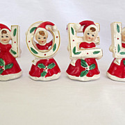 SOLD Vintage N O E L Christmas  Figurines Ceramic Japan