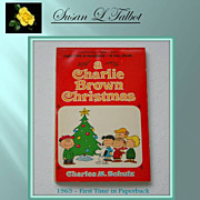 SALE Vintage 1965 Paperback Edition &quot;A Charlie Brown Christmas&quot; by Charles M. Schulz