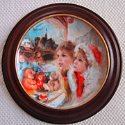 "SALE Bradford Exchange Les Noels de France, ""La Vitrine Magique"", Noel 1986"