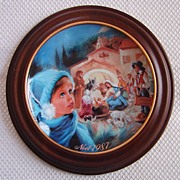 "SALE Bradford Exchange Collectors Plate, Les Noels de France, ""La creche etoilee"", N"