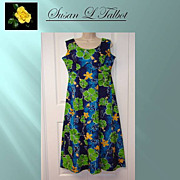 SALE Vintage Royal Hawaiian Women's Floral Print Dress