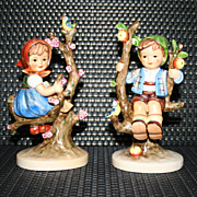 SALE Vintage Hummel Apple Tree Boy & Girl by Goebel