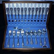 "SALE Wm Rogers Silverplate Flatware, 74 Piece Set, ""Jubilee"""