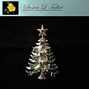 SALE Eisenberg Ice Christmas Tree Brooch