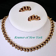 Dazzling Vintage Kramer of New York Demi Parure - Necklace & Earrings