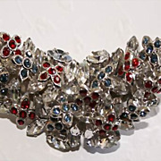 Vintage Austrian Crystal Brooch by Schoffel & Co - - Beautiful!