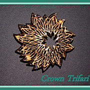 Vintage Crown Trifari Goldtone Brooch
