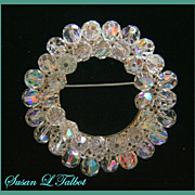 SALE Gorgeous Vintage High Quality Crystal Beaded Brooch -