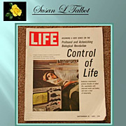 "Vintage Magazine - Life - September 10, 1965 Issue  ""Control of Life"""