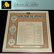 Vintage Sheet Music &quot;Gems From The Operas - Coronation March&quot; 1912