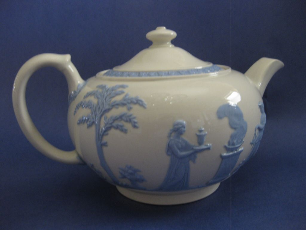 Wedgwood Queens Ware Classical Scene Teapot