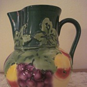 Ditmar Urbach Czechoslovakia Fruit Pitcher Great Shape Raised Design Art Deco