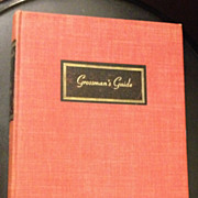 Grossman's Guide - First Edition - Signed