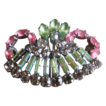 Pastel Rhinestone Crown Brooch