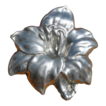 Art Nouveau Pewter Lily Brooch