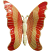 Vintage Red Enamel Butterfly Brooch