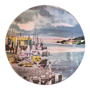 Vintage Dong Kingman & Royal Doulton Series-Ware, Fisherman's Wharf Collectible Plate