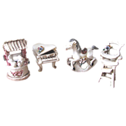 Vintage 1950's Italian Porcelain Nursery Figurines - Set of 4