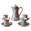Antique Royal Satsuma Moriage Chocolate Pot Set - 10 Piece