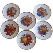 Vintage Mitterteich Bavarian Porcelain Fruit Plates - Set of 2