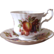 Vintage Royal Albert Bone China Teacup & Saucer Set - Orchard Fruit