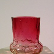 SOLD Amberina Toothpick Holder