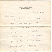 2 Original Letters | Author Dorothy Canfield Fisher to Harry Scherman | 1943