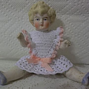 SALE Large Antique 6.5&quot; All Bisque Hertwig Doll